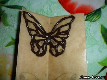 как сделать шоколадную бабочку