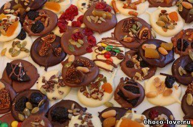 конфеты рецепт Шоколадные с сухофруктами