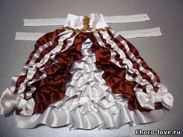 Украшение из лент для платья своими руками