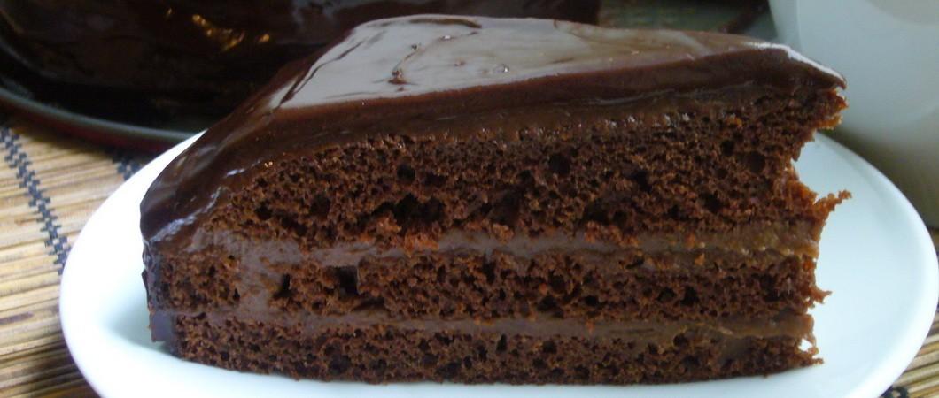 рецепт торт безвыпечки на кипятке шоколадный