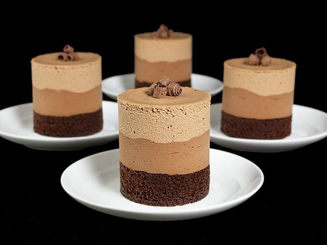 Десерт 3 шоколада без выпечки