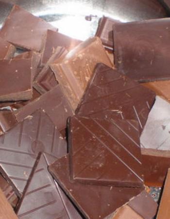 Шоколад для торта, растопленный на водяной бане