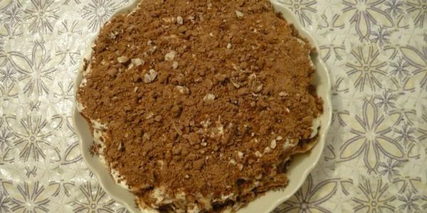 Торт из пряников и бананов фото рецепт