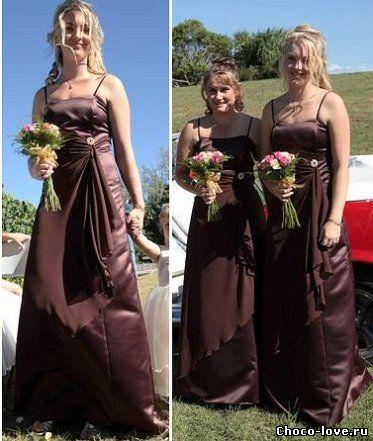 Или свадьба в шоколадном цвете и стиле