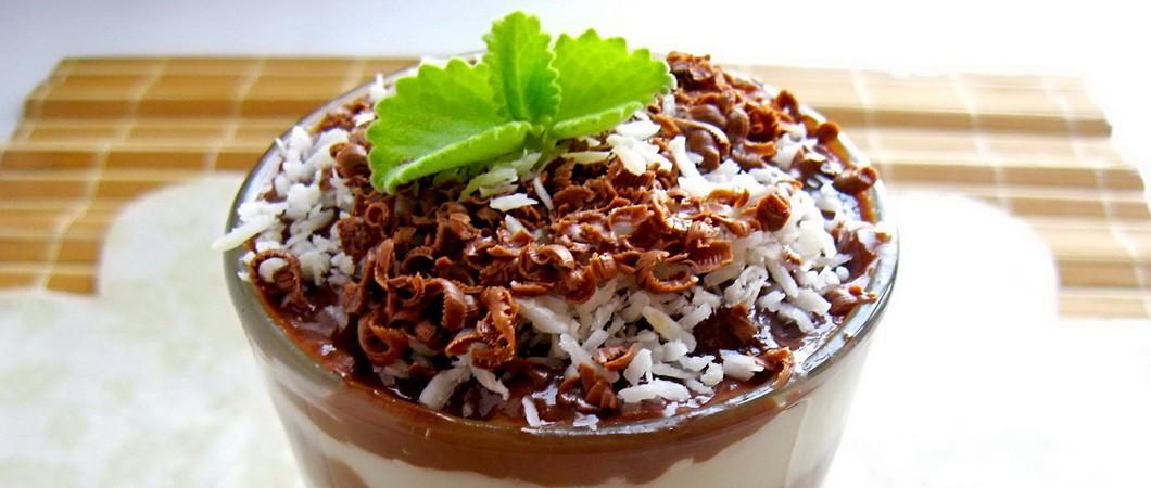 Десерт из кокоса с шоколадом. Видео — рецепт