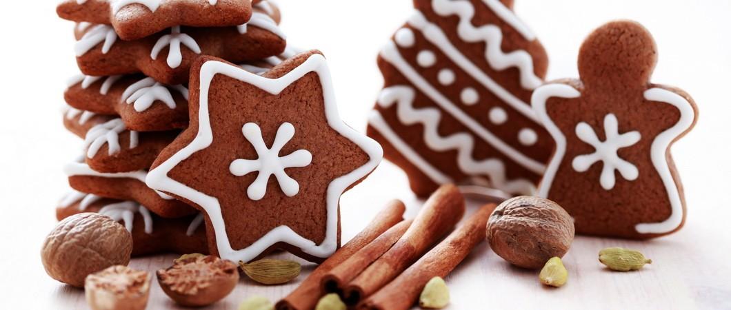 Новогоднее печенье Шоколадная звезда
