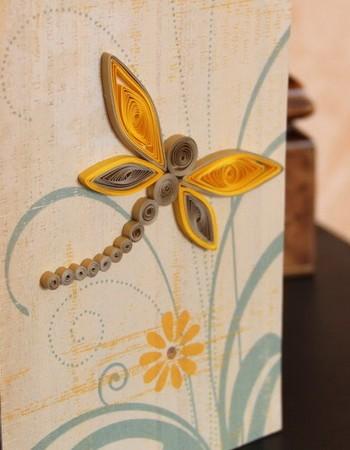 Необычные открытки своими руками. Открытка «Шоколадная стрекоза» Мастер — класс