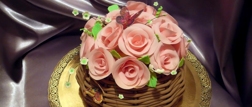 Торт с шоколадом «Корзина Роз». Рецепт с пошаговыми фото