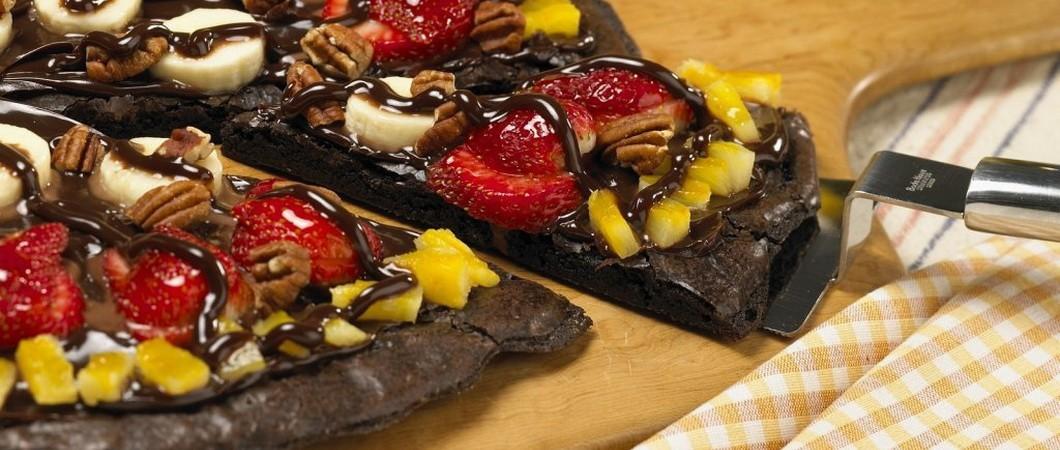 Шоколадная пицца или сладкие пиццы — это вкусно!