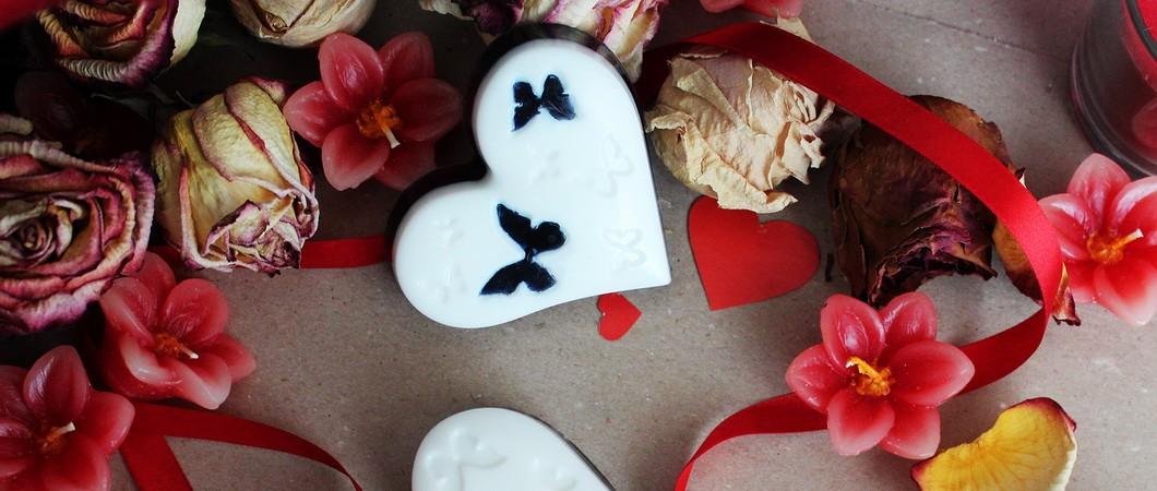 Шоколадное сердце со сливками