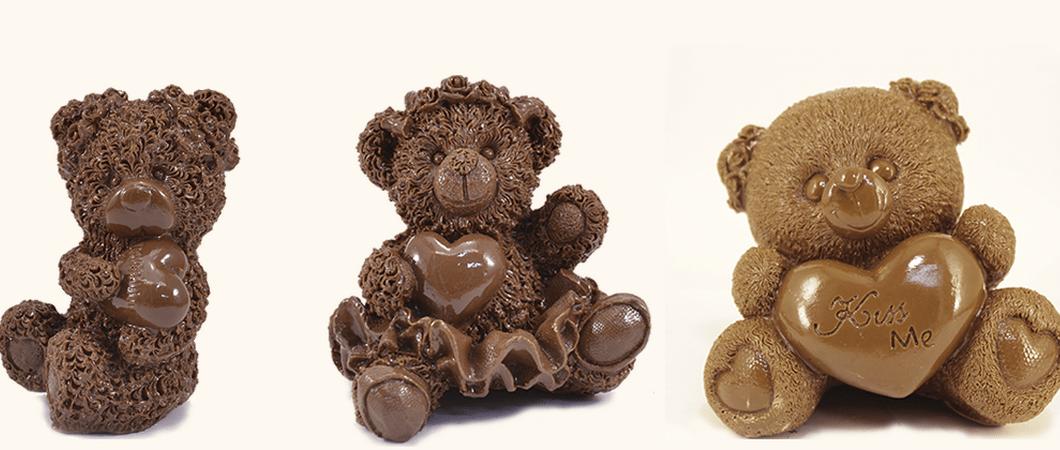 Новогодний декор из шоколада. Съедобные украшения стола «Шоколадные мишки»