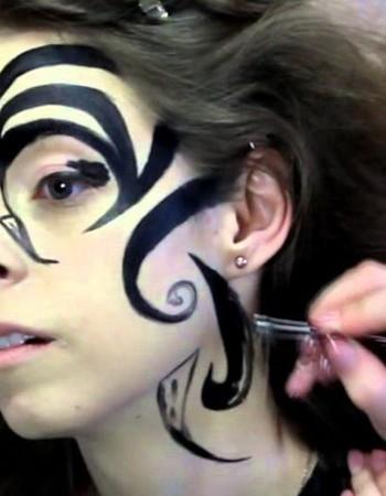 Карнавальный макияж — Шоколадный фейс — арт