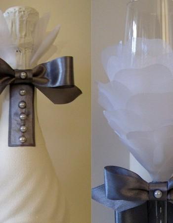Как красиво украсить бутылку шампанского или вина своими руками. Мастер — класс с фото