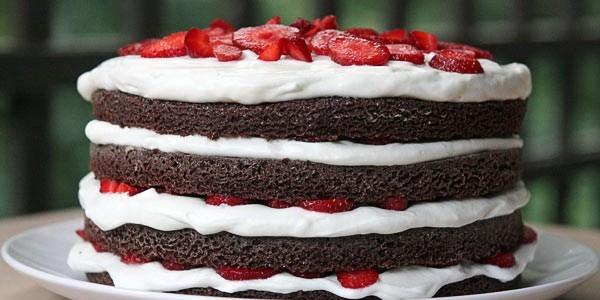 рецепт клубнично-шоколадный торт