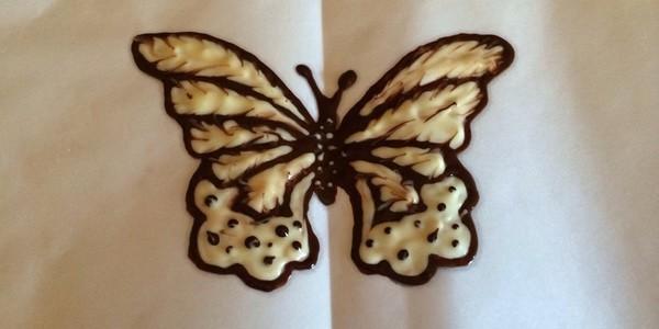 Как сделать бабочки из шоколада на торт своими 5